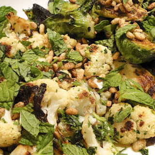 Momofuku's brussels sprouts & cauliflower in Asian vinaigrette