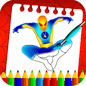 Spider Superhero Coloring Book Pages for kids