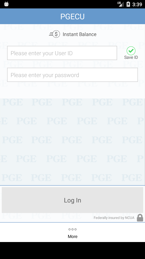 PGE Federal Credit Union- screenshot