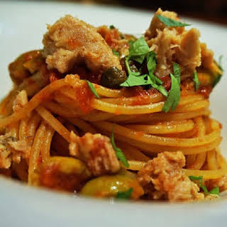 Spaghetti with Tuna and Anchovy.