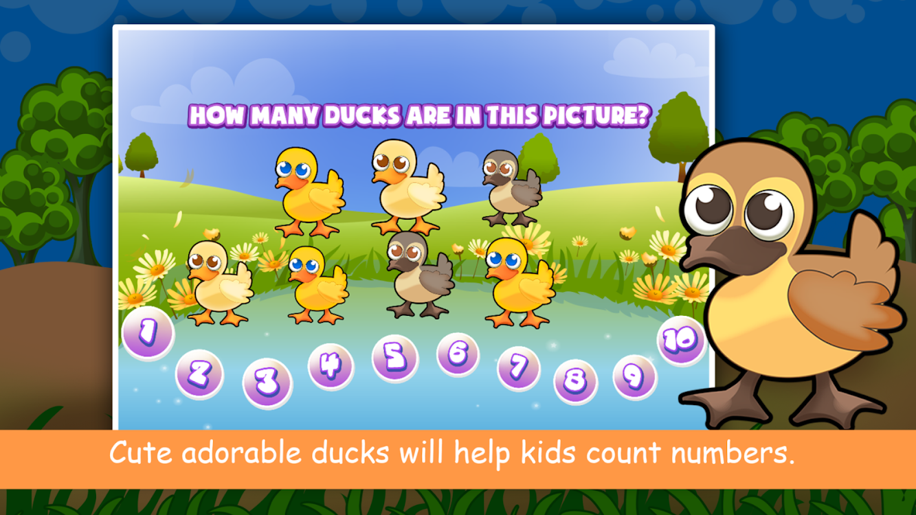 Duck Counting Numbers for Kids: Learning Basic 123