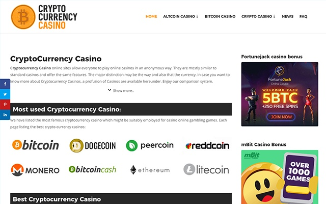 best cryptocurrency casinos online