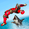 Superhero Robot Water Slide Simulator icon