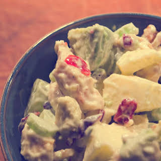 Chicken Salad With Grapes, Apples And Cranberriesrecipe.