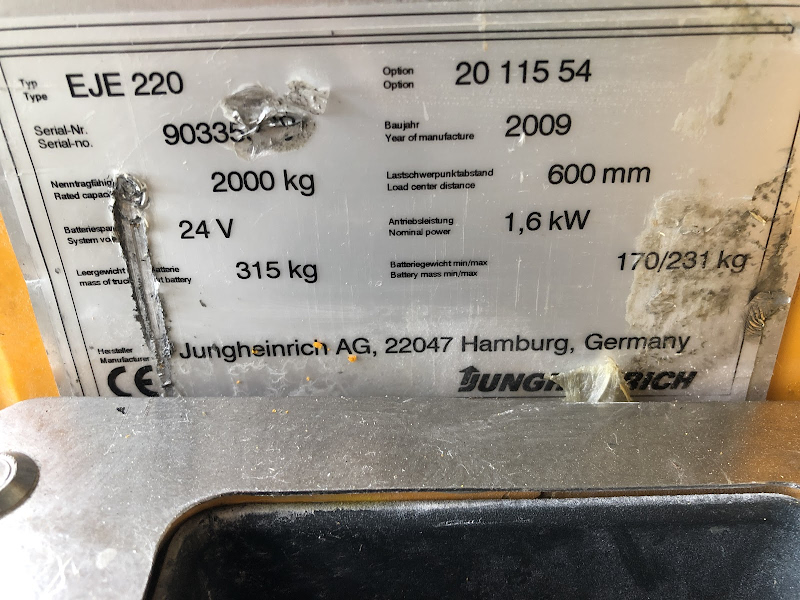 Picture of a JUNGHEINRICH EJE 220