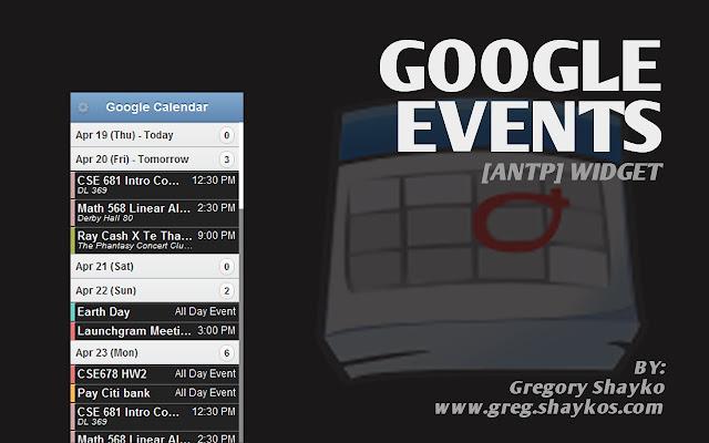 Google Events [ANTP]