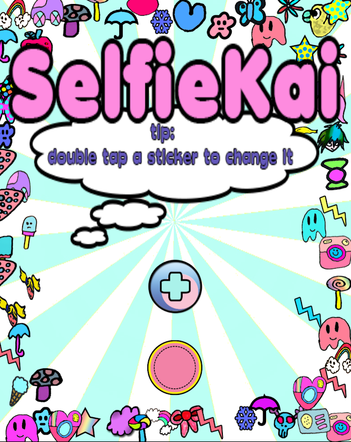 SelfieKai. kawaii cam stickers- screenshot