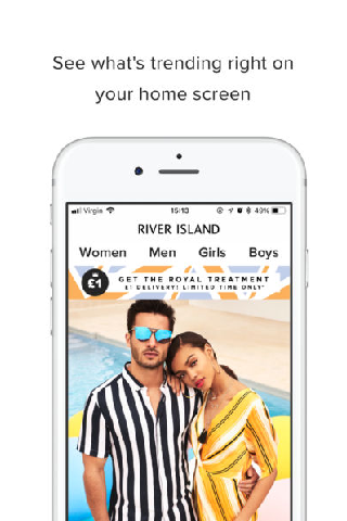 Fashion Island app - screenshot