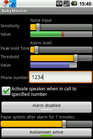 BabyMonitor screenshot for Android