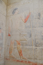 Photo: wall painting of king inside of tomb