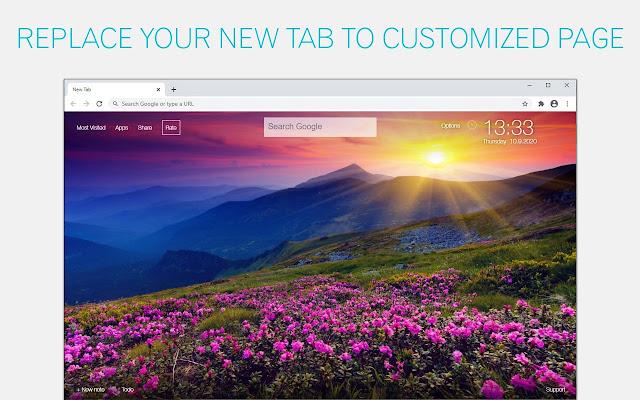 Sunbeam Wallpapers HD New Tab - freeaddon.com