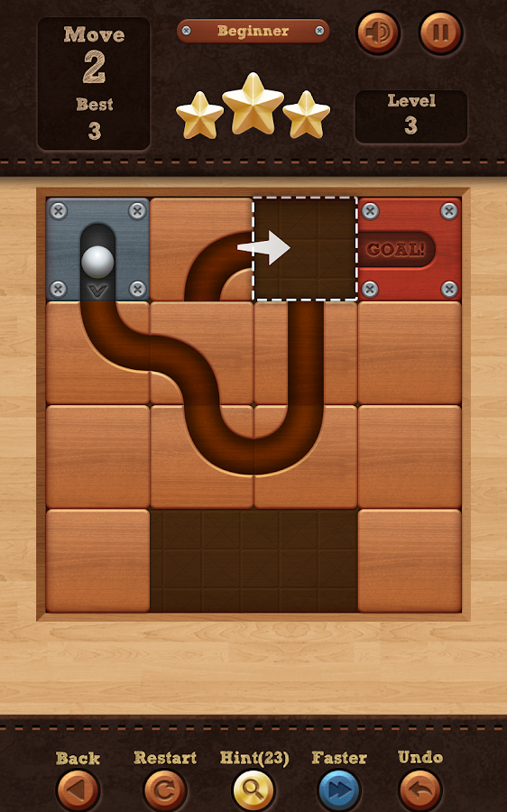 Screenshots of Roll the Ball™ - slide puzzle for Android