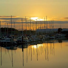 by Ferdinand Debnárik - Landscapes Travel ( sailing boat, harbor, beautiful weather, ships, beach, sunrise )