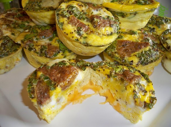 Lc/lf Turkey Sausage Cheesy Egg Muffins-annette's Recipe