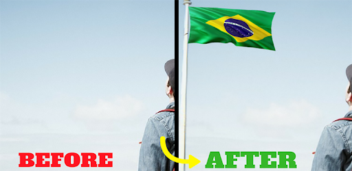 Brazil Flag In Your picture : Photo Editor app (apk) free download for Android/PC/Windows screenshot