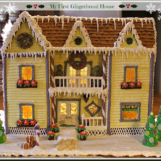 My First Gingerbread House (Recipes, Tips and Instructions) using my Best Soft Gingerbread Cookie