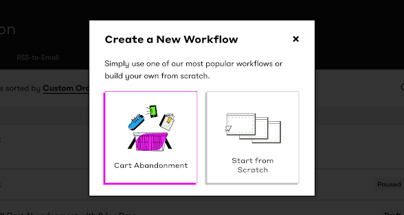 Drip Workflow - Shopify: Cart Abandonment