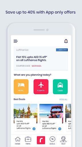 Rehlat - u0631u062du0644u0627u062a - Flights, Hotels & Careem Rides 7.5.1 screenshots 2