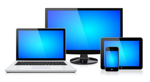 PC tablet and phones together