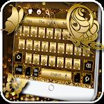 Glitter Diamond Gold Keyboard
