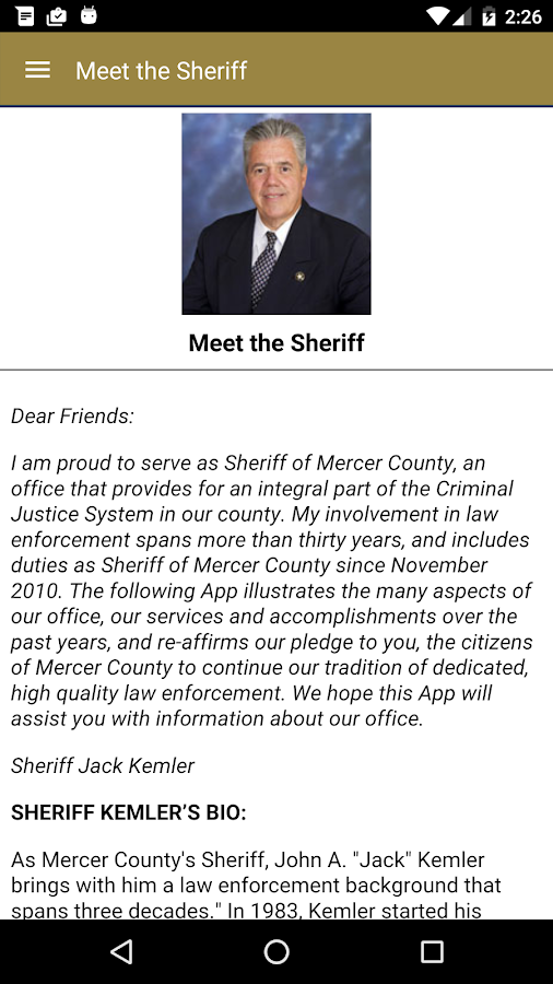 Mercer County Sheriff's Office- screenshot