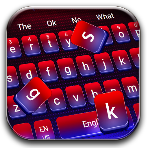 Red Blue Gradient Keyboard