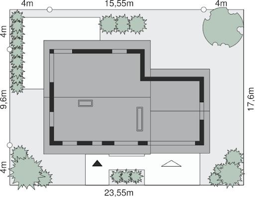 Dom przy Cyprysowej 24 - Sytuacja