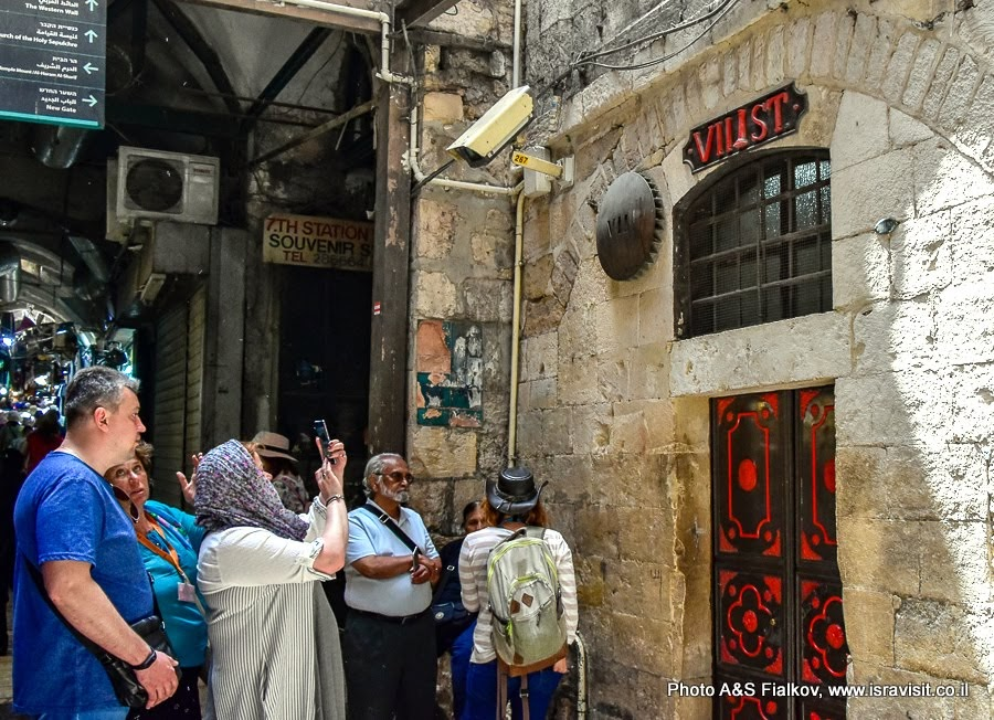 Седьмая станция Виа Долороза. Иерусалим. Старый город. Иисус упал в третий раз. Индивидуальная экскурсия в старом Городе Иерусалима с гидом Светланой Фиалковой.