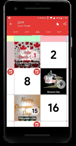 Canada Calendar - Holiday & Note (Calendar 2020) screenshots 2