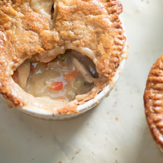 Individual Double-Crusted Chicken Pot Pies.