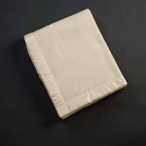 John Atkinson Duchess Merino Wool Blanket White