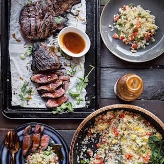 Kung Pao Steak and Cauliflower Fried Rice.