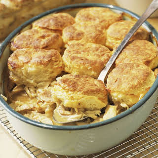 Fast and Easy Chicken and Biscuit Casserole.