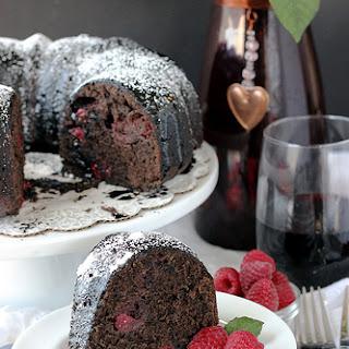 Raspberry Cabernet Cake