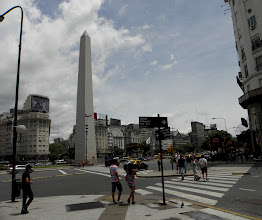 Photo: The Obelisk of Buenos Aires is a national historic monument. Located in the Plaza de la República, built to commemorate the first foundation of the city.