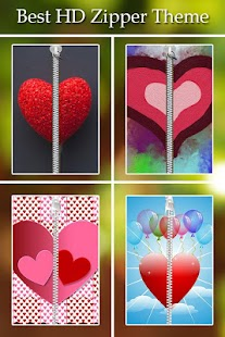 Heart Passcode Zipper Lock screenshot