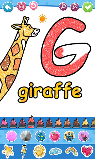 Glitter Number and letters coloring Book for kids screenshot 20