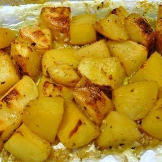Greek Potatoes with Lemons and Oregano.