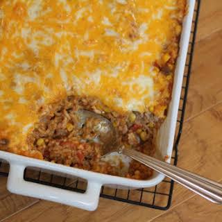 Beef Enchilada Rice Casserole.