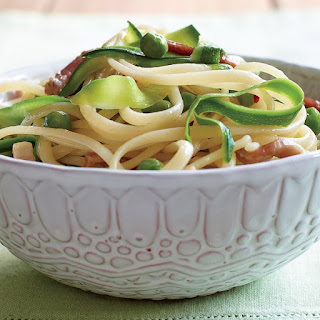 Linguine with Pancetta, Peas, and Zucchini