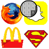 Logo Color by Number - Pixel Art, Sandbox Coloring