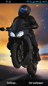 Biker Live Wallpaper screenshot 4