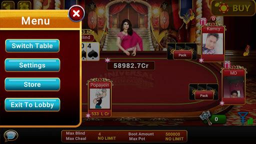 Universal Teen Patti - Indian Poker Game screenshots 3