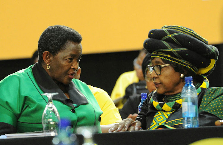 ANC Women's League president Bathabile Dlamini and Winnie Madikizela-Mandela.