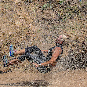 Nice Shoes by Paul Milliken - Sports & Fitness Fitness ( mud running, nice shoes, water slide, obstacle racing, mud run )