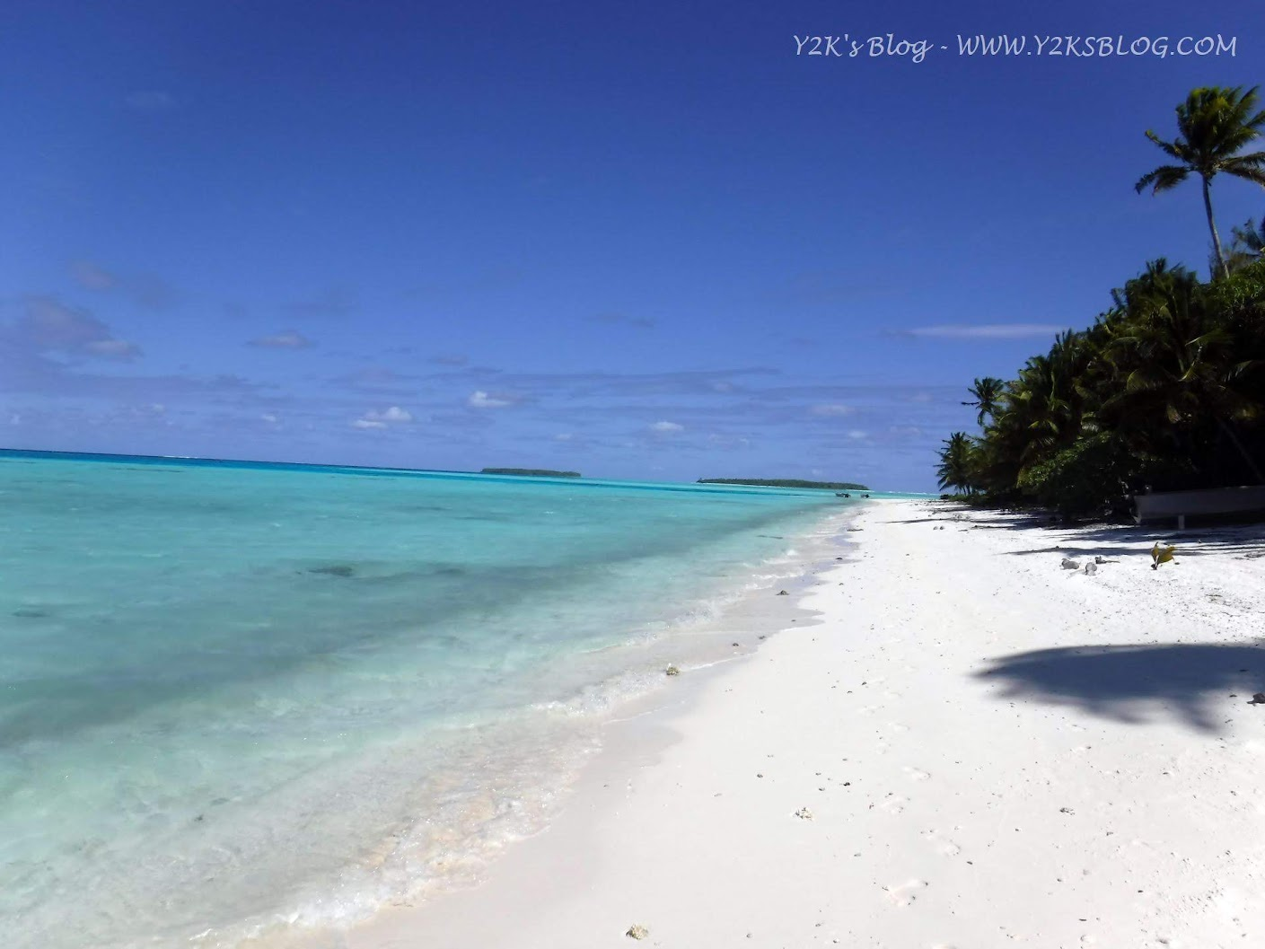 Una delle bellissime spiagge dell'atollo - Palmerston