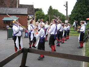 Photo: Hereburgh dancing Black Joke on a nice smooth car park of the 'Shoulder of Mutton'.