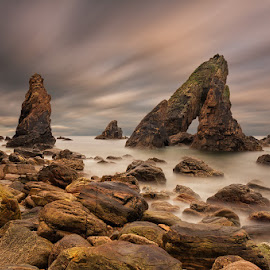 Crohy Arch by Slawomir Majchrzak - Landscapes Waterscapes ( sky, rocks, sunset, sea, ireland,  )