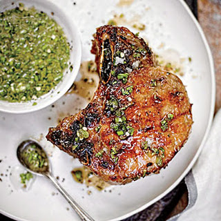 Double Thick-Cut Pork Chops.