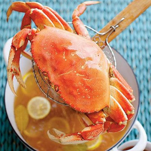 Simple Boiled Crabs With Garlic-vermouth Butter Recipe
